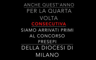 Per la quarta volta primi al concorso Presepi Diocesi di Milano