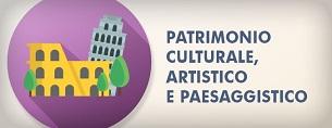 Logo Patrimonio culturale, artistico e paesaggistico
